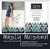 Graduation Announcement Card Set - Madly Modern Diamonds in the Sky #3, Grad Card, 4X8 Accordian Album, Envelope Liner INSTANT DOWNLOAD