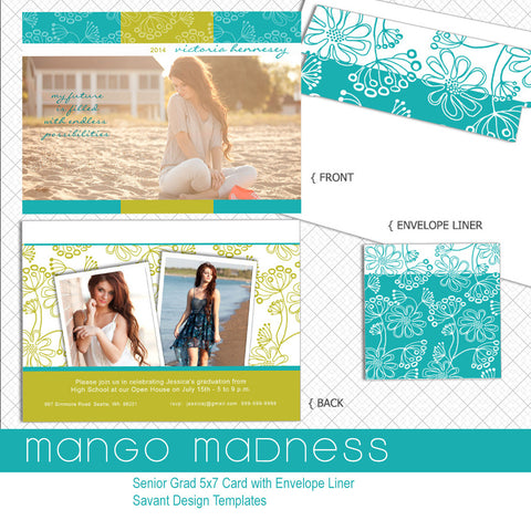 Senior Grad Card Template - Mango Madness