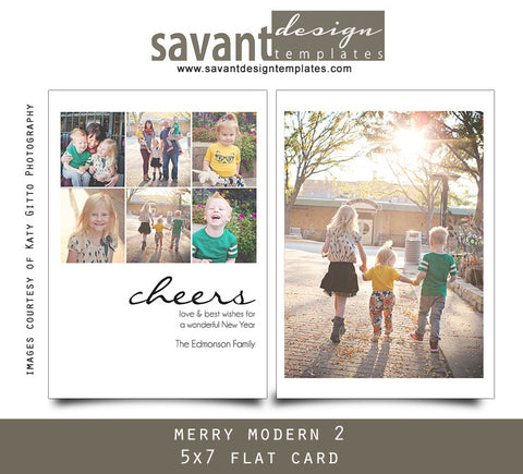 Christmas Holiday Photo Cards - Merry Modern 2