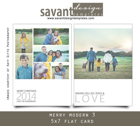 Christmas Holiday Photo Cards - Merry Modern 3
