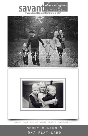 Christmas Holiday Photo Cards - Merry Modern 5