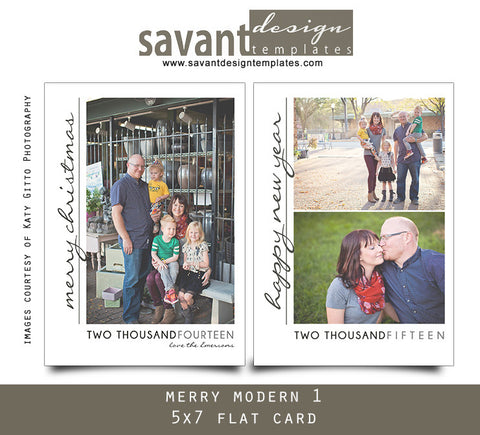 Christmas Holiday Photo Cards - Merry Modern 1