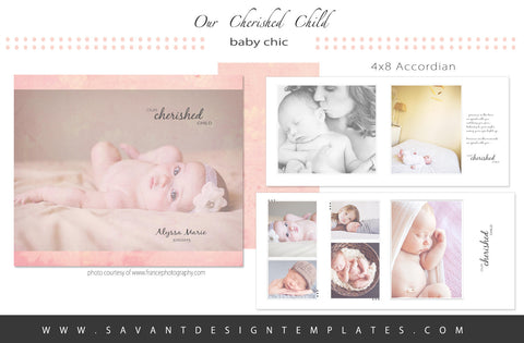 Our Cherished Child Birth Announcement Accordian Album