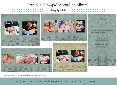 Precious Baby Birth Announcement Accordian Album