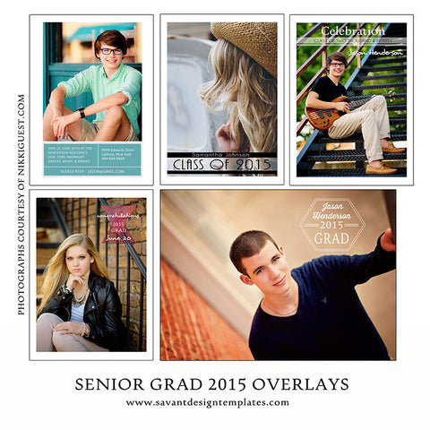 2015 Senior Grad Text Overlays - 10 Unique Digital Overlays INSTANT DOWNLOAD