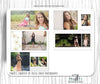Senior 10x10 Photography Album Template by Savant Design Templates