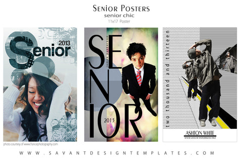 Senior Graduation Poster Template Set