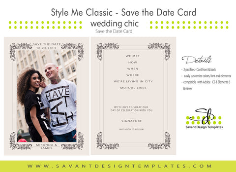 Style Me Classic Save the Date