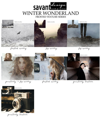 Photoshop Winter Wonderland Frozen Texture & Overlay Set for photographers