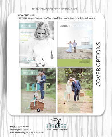 Wedding Magazine Template for Photographers - All You Need is Love