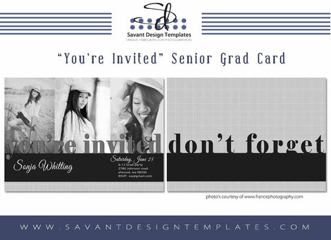 Grad Card Template - You're Invited