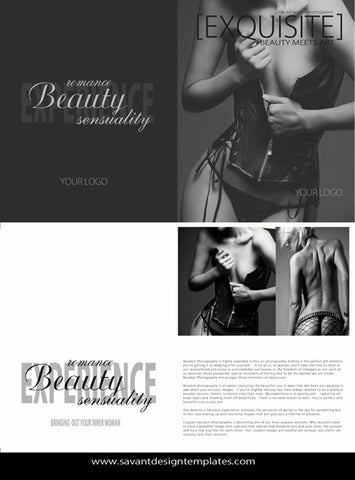 Boudoir Magazine Template, Welcome Guide, Photography Magazine, Photography Marketing - Text included INSTANT DOWNLOAD Exquisite Magazine