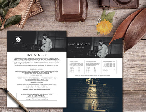 Price Guide Template for Photographers by Savant Design Templates