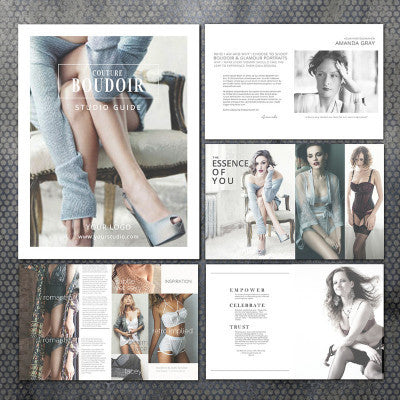 Boudoir Magazine Marketing Template for Photographers, Welcome Pricing GuideTemplate, Photoshop Templates, Branding, BM201 Savant Design Templates
