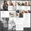 Boudoir Photography Template Magazine and Marketing Bundle, Welcome Price Guide Magazine, Photography Marketing Photoshop Templates, BO302, BM201 Savant Design Templates