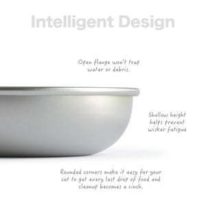 Basis Pet Stainless Steel Cat Dish Made in USA Intelligent Design