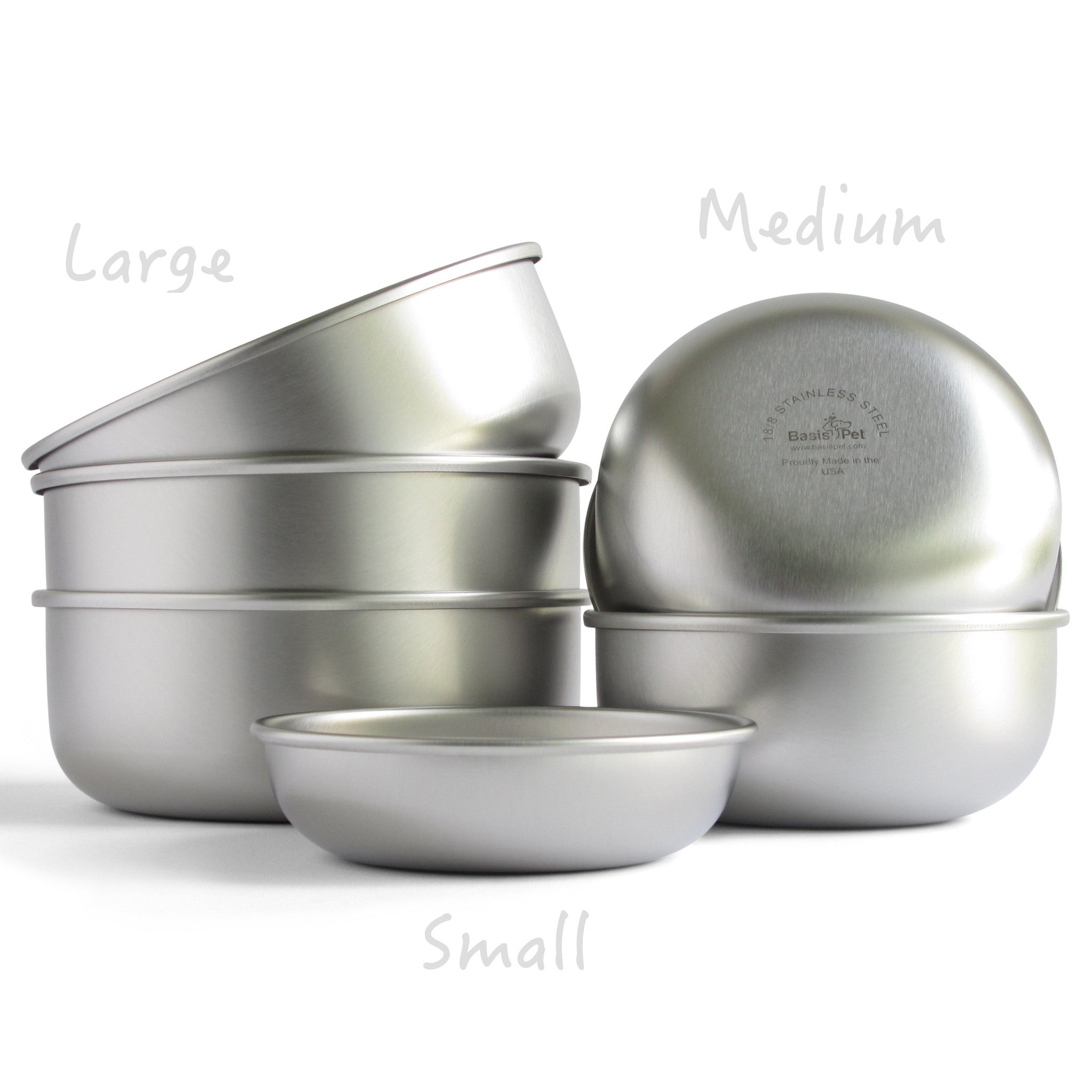 Stainless Steel Dog Bowls Made In Usa Basis Pet