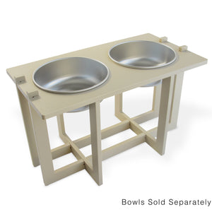 Rise Pet Bowl Stand for Large Bowls, Double Bowl High Top View
