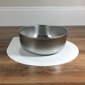 Mini pet bowl mat with one large bowl
