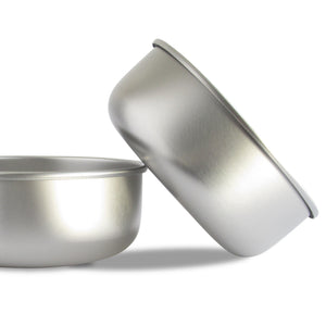 Basis Pet Stainless Steel Dog Bowl Made in USA Main Image