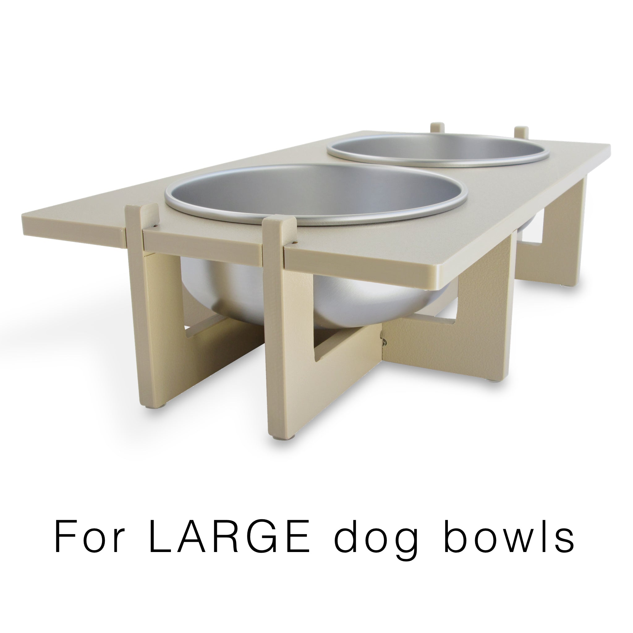 large dog bowl stand