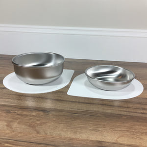 Mini Pet Bowl Mat with Small and Medium bowls