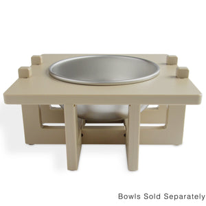 Rise Pet Bowl Stand For Medium Bowls, Single Bowl Front View