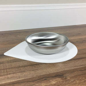 Silicone pet bowl mat with small cat bowl