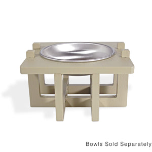 Rise Pet Bowl Stand for Small Dog and Cat Bowls, Single Bowl High Front View