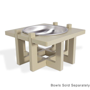 Rise Pet Bowl Stand for Small Dog and Cat Bowls, Single Bowl High Side View