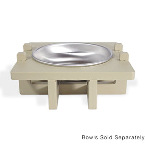 Rise Pet Bowl Stand for Small Dog and Cat Bowls, Single Bowl Front View