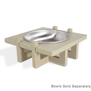 Rise Pet Bowl Stand for Small Dog and Cat Bowls, Single Bowl Side View