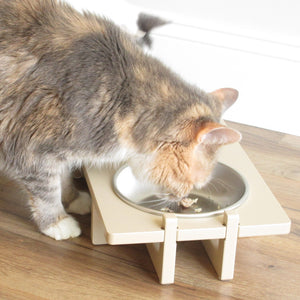 Bowl Stand for Small Dog and Cat Bowls, Double Bowl With Cat 2
