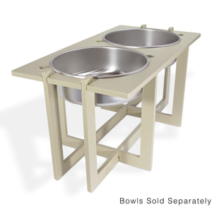 Rise Pet Bowl Stand, For Extra Large Bowls, Double High Side View 2