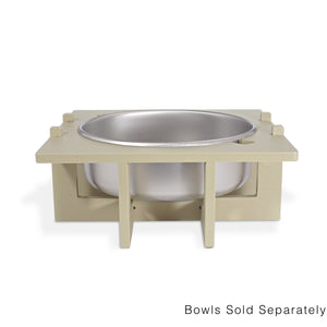 Rise Pet Bowl Stand, for Extra Large Bowls, Single Bowl Front