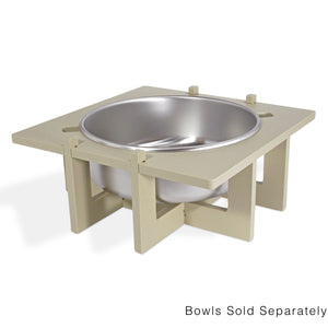 Rise Pet Bowl Stand, For Extra Large Bowls, Single Side View