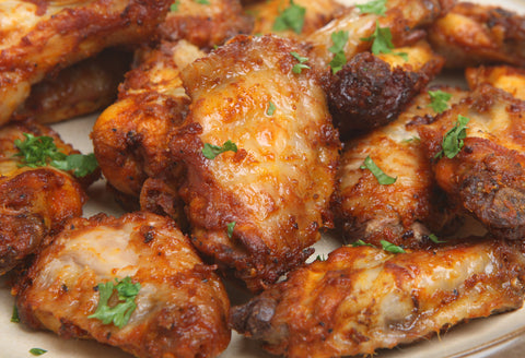Peach Chipotle Chicken Wings - Gina's Gourmet