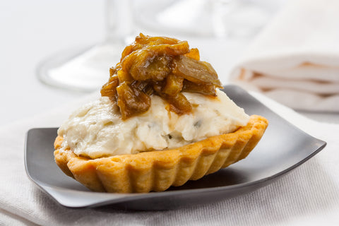 Blue Cheese & Pear Spread Tartlets - Gina's Gourmet Pantry