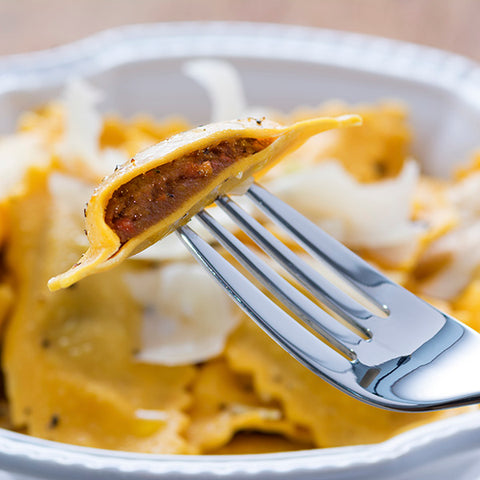 Pumpkin Spread Ravioli with Brown Butter Sage - Gina's Gourmet Pantry