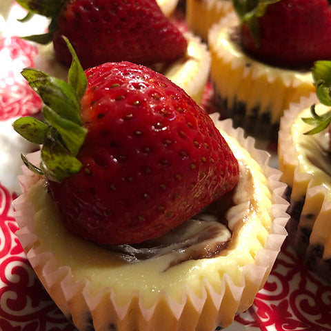 Strawberry White Chocolate Cheesecakes - Gina's Gourmet