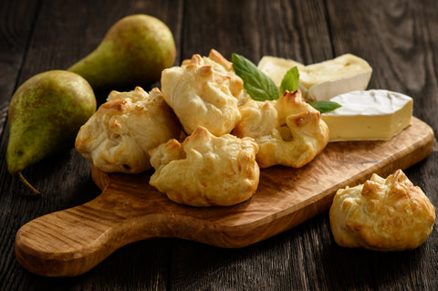 Pear Brie Puffs - Gina's Gourmet Pantry