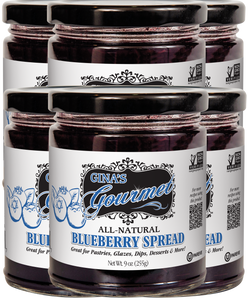 All-Natural Blueberry Spread ~ Wholesale: 6 units per case