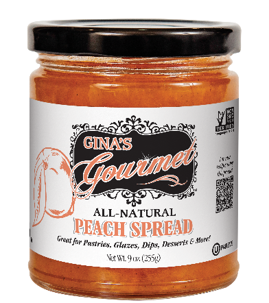 Gina's Gourmet 9 oz Peach Spread