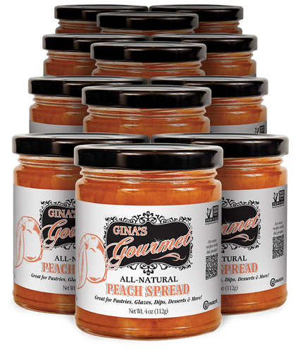 All-Natural Peach Spread 4 oz ~ Wholesale: 12 units per case
