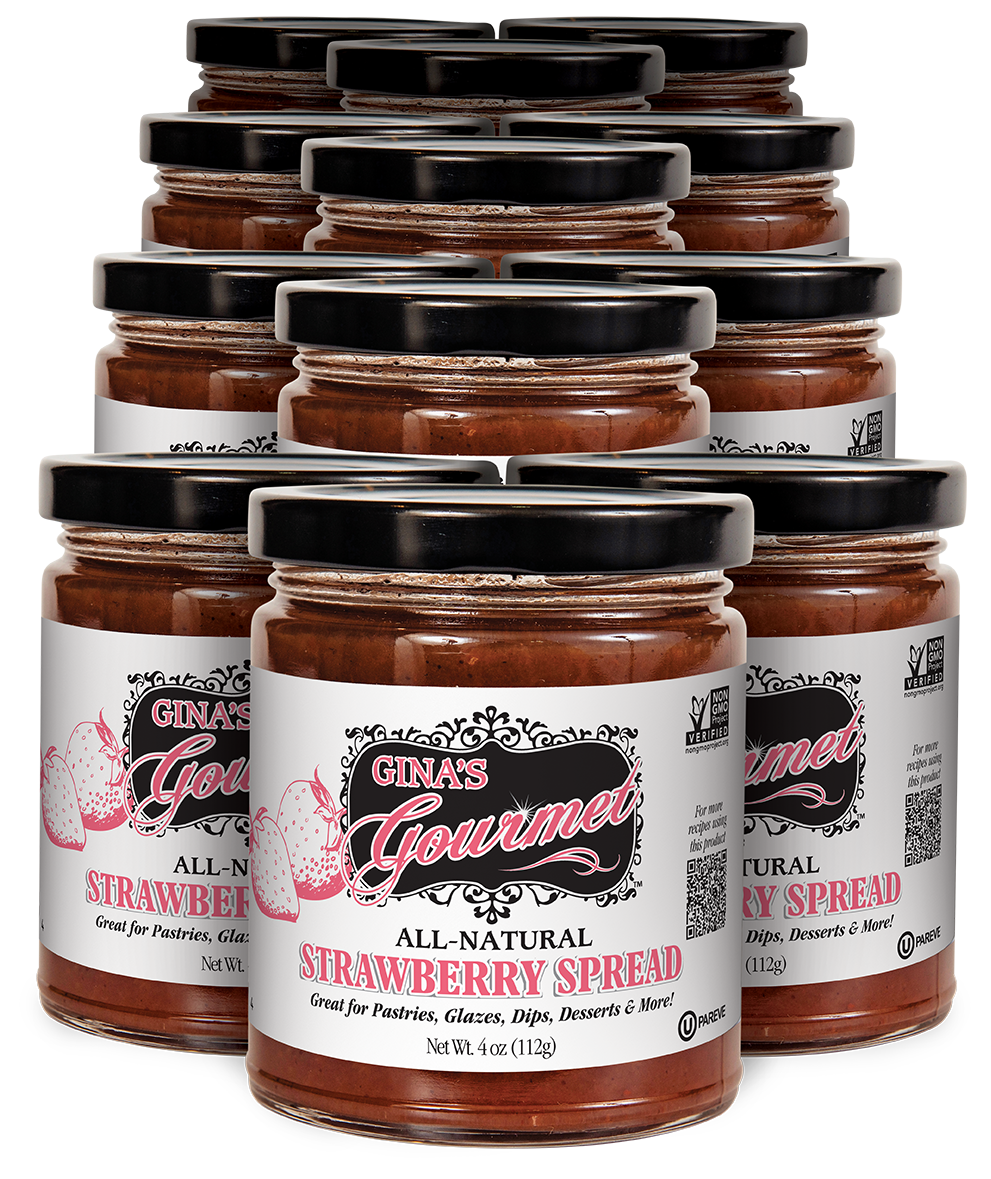 All-Natural Strawberry Spread 4 oz ~ Wholesale 12 units per case