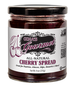 All-Natural Cherry Spread 9 oz ~ Wholesale: 6 units per case
