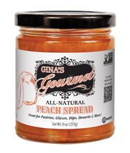 Load image into Gallery viewer, Gina's Gourmet 9 oz Peach Spread