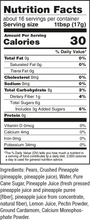 Load image into Gallery viewer, Gina's Gourmet 9 oz Pear Spread Nutrition Facts