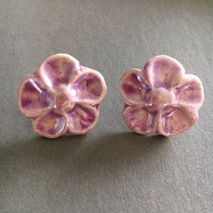 Flower Post Earrings - Your choice color