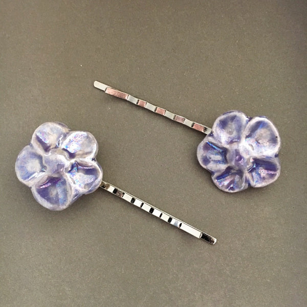 Flower Hair Pins - Your choice color